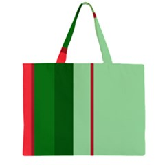 Green and red design Large Tote Bag