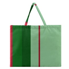 Green and red design Zipper Large Tote Bag