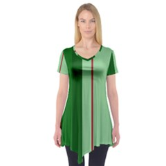 Green and red design Short Sleeve Tunic