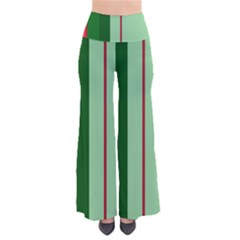 Green And Red Design Pants