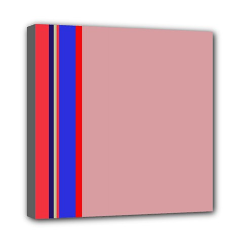 Pink elegant lines Mini Canvas 8  x 8