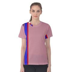 Pink elegant lines Women s Cotton Tee
