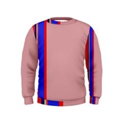 Pink elegant lines Kids  Sweatshirt