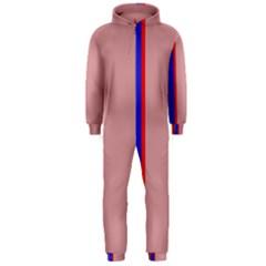 Pink elegant lines Hooded Jumpsuit (Men)