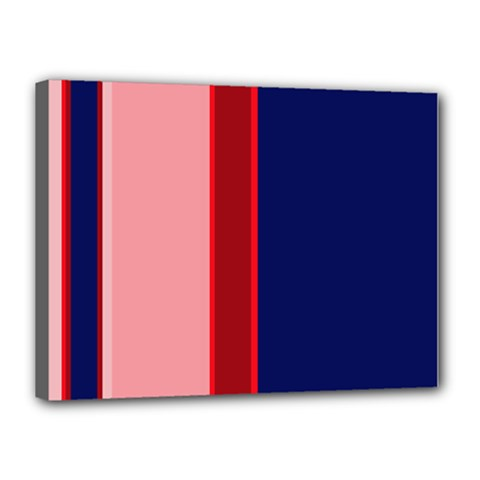 Pink and blue lines Canvas 16  x 12