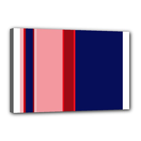 Pink and blue lines Canvas 18  x 12