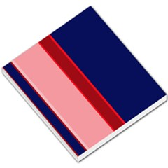 Pink and blue lines Small Memo Pads