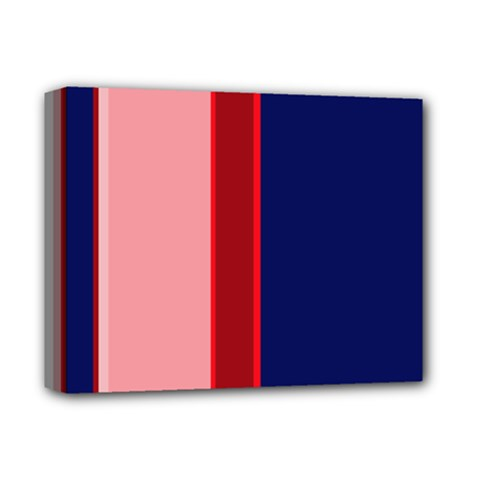 Pink and blue lines Deluxe Canvas 14  x 11