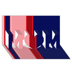 Pink and blue lines MOM 3D Greeting Card (8x4)