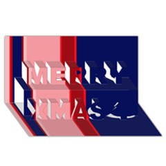 Pink and blue lines Merry Xmas 3D Greeting Card (8x4)