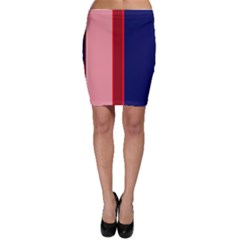 Pink and blue lines Bodycon Skirt