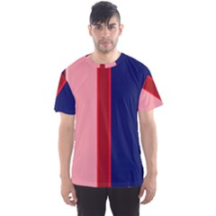 Pink and blue lines Men s Sport Mesh Tee