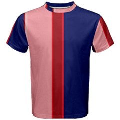 Pink and blue lines Men s Cotton Tee