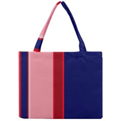 Pink and blue lines Mini Tote Bag