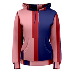 Pink and blue lines Women s Pullover Hoodie