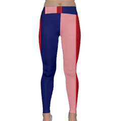 Pink and blue lines Yoga Leggings