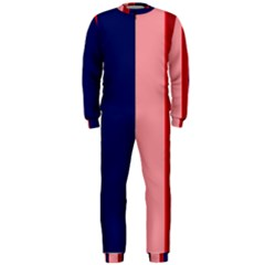 Pink and blue lines OnePiece Jumpsuit (Men)