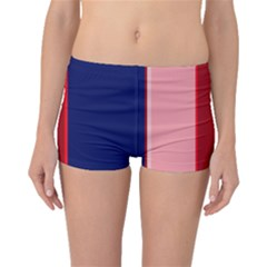 Pink and blue lines Boyleg Bikini Bottoms