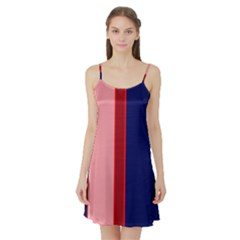 Pink and blue lines Satin Night Slip