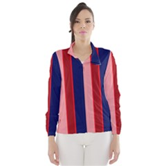Pink and blue lines Wind Breaker (Women)