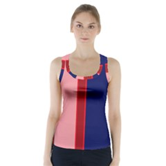 Pink and blue lines Racer Back Sports Top
