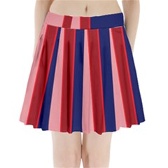 Pink And Blue Lines Pleated Mini Mesh Skirt(p209)