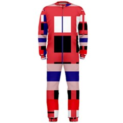 Red abstraction OnePiece Jumpsuit (Men)