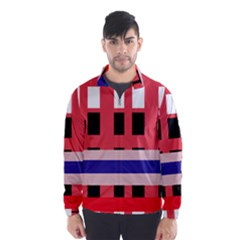 Red abstraction Wind Breaker (Men)