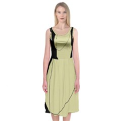 Elegant design Midi Sleeveless Dress
