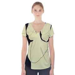 Elegant design Short Sleeve Front Detail Top
