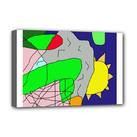 Crazy abstraction Deluxe Canvas 18  x 12