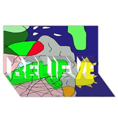 Crazy Abstraction Believe 3d Greeting Card (8x4)