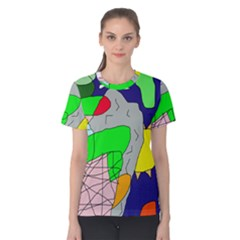 Crazy abstraction Women s Cotton Tee
