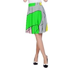 Crazy abstraction A-Line Skirt