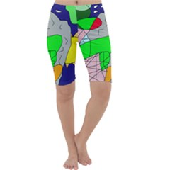 Crazy abstraction Cropped Leggings