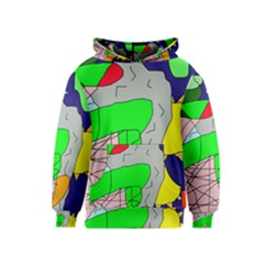 Crazy abstraction Kids  Pullover Hoodie