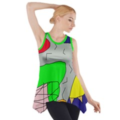 Crazy abstraction Side Drop Tank Tunic