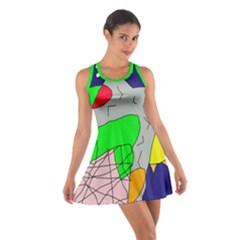 Crazy abstraction Racerback Dresses