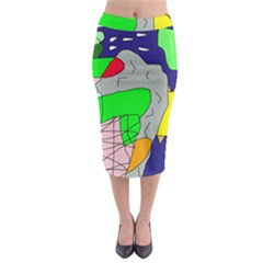 Crazy abstraction Midi Pencil Skirt