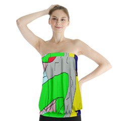 Crazy abstraction Strapless Top