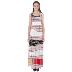 Worms Empire Waist Maxi Dress