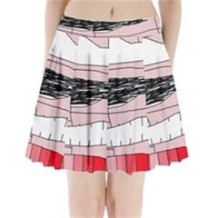Worms Pleated Mini Mesh Skirt(P209)