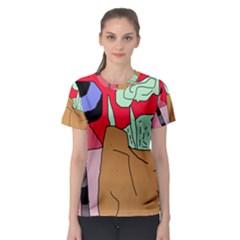 Imaginative Abstraction Women s Sport Mesh Tee