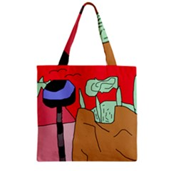 Imaginative abstraction Zipper Grocery Tote Bag