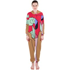 Imaginative abstraction Hooded Jumpsuit (Ladies)