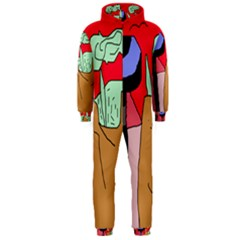 Imaginative abstraction Hooded Jumpsuit (Men)