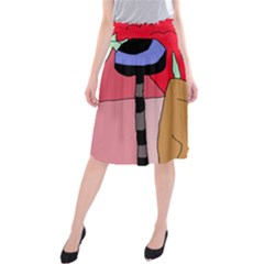 Imaginative abstraction Midi Beach Skirt