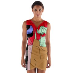 Imaginative abstraction Wrap Front Bodycon Dress