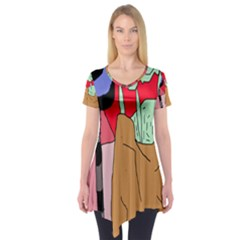 Imaginative abstraction Short Sleeve Tunic