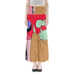 Imaginative Abstraction Maxi Skirts